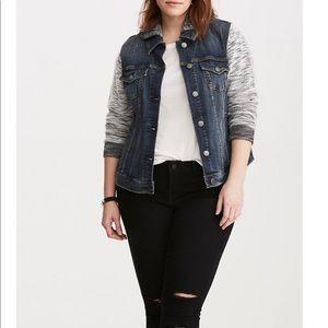 NWT torrid size 2 denim French terry jacket